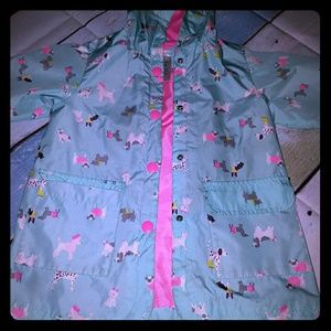 Carter's raincoat some wear on sleeves